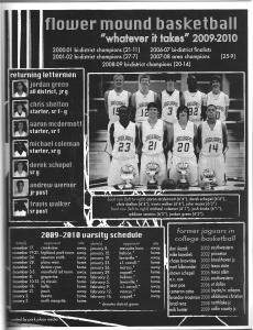 Full-page Booster Club Ad